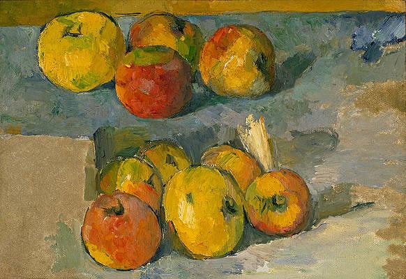 Apples Print by Paul Cezanne