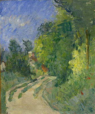 Bend in the Road Through the Forest Print by Paul Cezanne