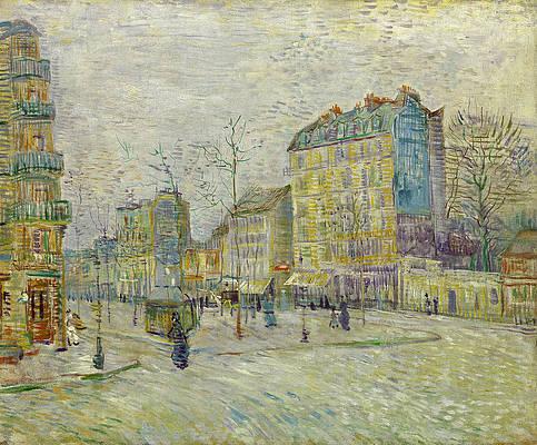 Boulevard de Clichy Print by Vincent van Gogh