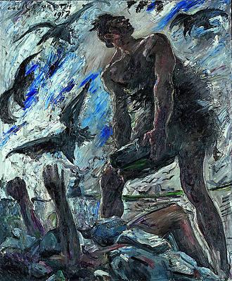 Cain Print by Lovis Corinth