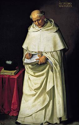 Fray Pedro Machado Print by Francisco de Zurbaran