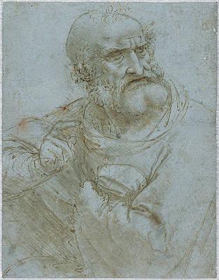 Half-Length Figure of an Apostle Print by Leonardo Da Vinci