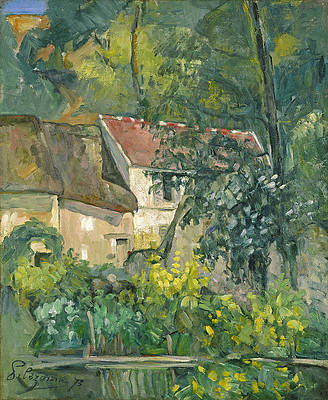 House of Pere Lacroix Print by Paul Cezanne