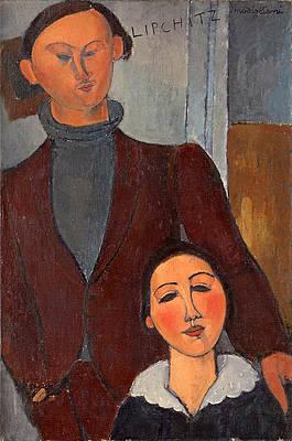 Jacques and Berthe Lipchitz Print by Amedeo Modigliani