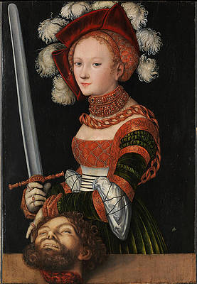 Judith with the Head of Holofernes Print by Lucas Cranach the Elder