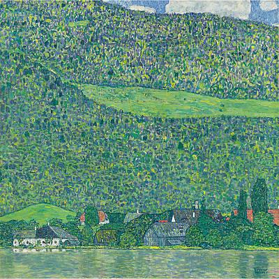 Litzlberg am Attersee Print by Gustav Klimt