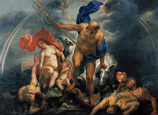 Neptune and Amphitrite in the Storm Print by Jacob Jordaens