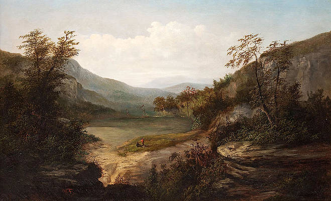 North Carolina Mountain Landscape Print by William Charles Anthony Frerichs