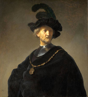 Old Man with a Gold Chain Print by Rembrandt