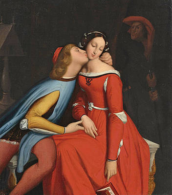 Paolo and Francesca Print by Jean-Auguste-Dominique Ingres