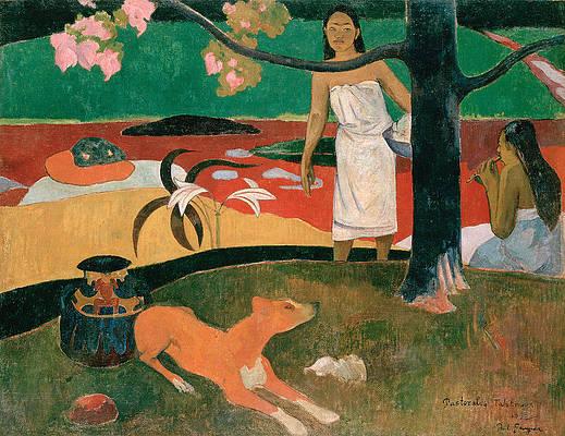 Pastorales Tahitiennes Print by Paul Gauguin