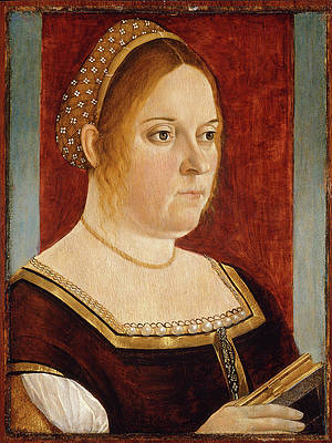 Portrait of a Lady with a Book Print by Vittore Carpaccio