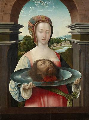 Salome with the Head of John the Baptist Print by Jacob Cornelisz van Oostsanen