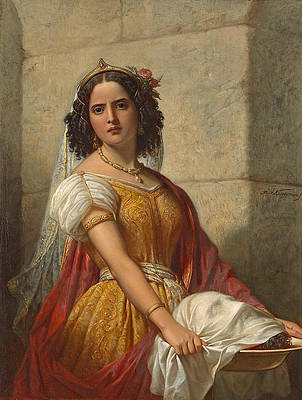 Salome with the Head of John the Baptist Print by Jan Adam Kruseman