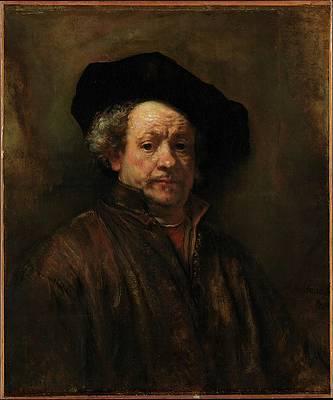 Self Portrait Print by Rembrandt