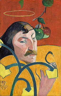 Self-Portrait with Halo and Snake Print by Paul Gauguin
