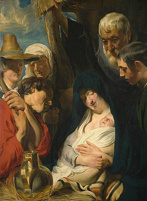 The Adoration of the Shepherds Print by Jacob Jordaens