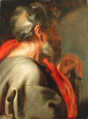 The Apostle Simon Print by Anthony van Dyck