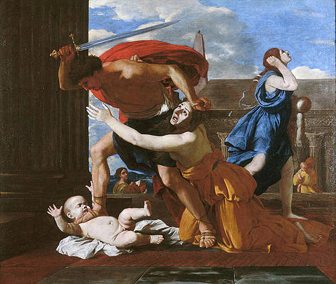 The Massacre of the Innocents Print by Nicolas Poussin