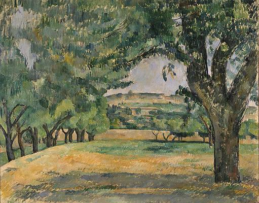 The Neighborhood of Jas de Bouffan Print by Paul Cezanne
