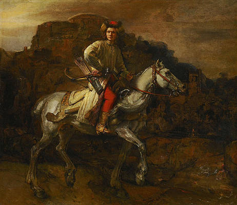 The Polish Rider Print by Rembrandt