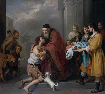 The Return of the Prodigal Son Print by Bartolome Esteban Murillo