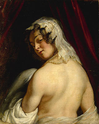 The wife of king Candaules Print by Jacob Jordaens