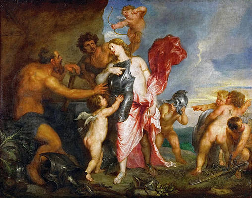 Thetis Receiving the Weapons of Achilles from Hephaestus Print by Anthony van Dyck