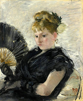 Woman with a Fan Print by Berthe Morisot