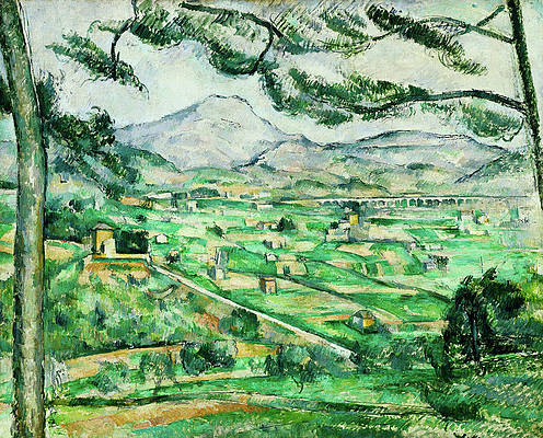 Mont Sainte-Victoire Print by Paul Cezanne