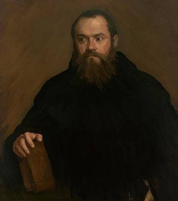 A monk with a book Print by Titian