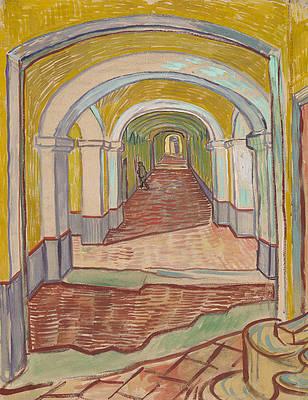 Corridor in the Asylum Print by Vincent van Gogh