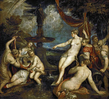 Diana and Callisto Print by Titian
