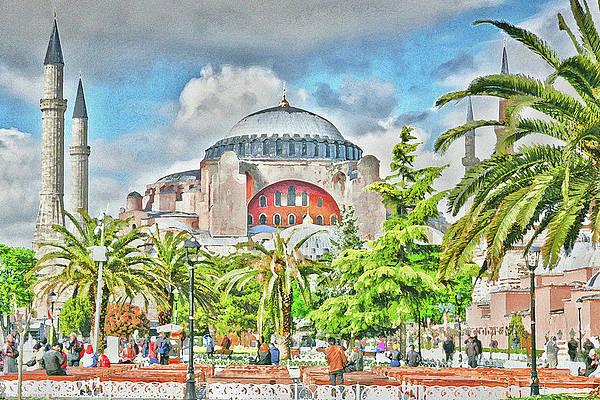 View Of Hagia Sofia Or Ayasofya At Art Print Home Decor Wall Art Poster E