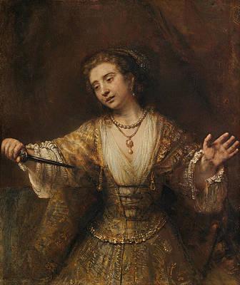 Lucretia Print by Rembrandt