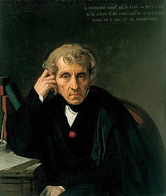 Luigi Cherubini Print by Jean-Auguste-Dominique Ingres