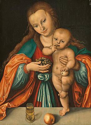 Madonna and Child Print by Lucas Cranach the Elder