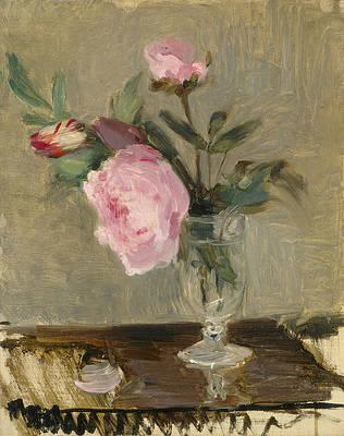 Peonies Print by Berthe Morisot