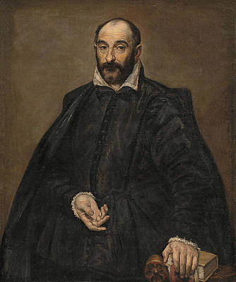 Portrait of a Man Print by El Greco