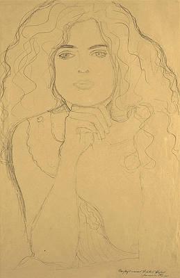 Portrait of a Woman Print by Gustav Klimt