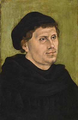Portrait of Martin Luther Print by Lucas Cranach the Elder