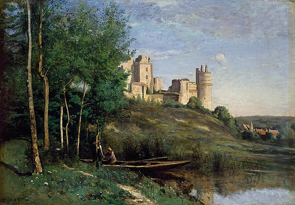 Ruins of the Chateau de Pierrefonds Print by Jean-Baptiste-Camille Corot