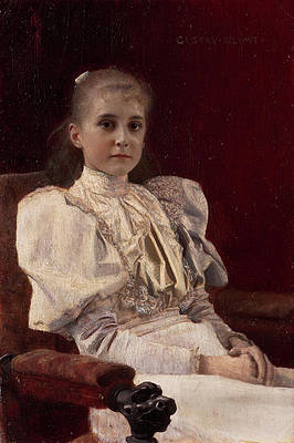 Seated Young Girl Print by Gustav Klimt