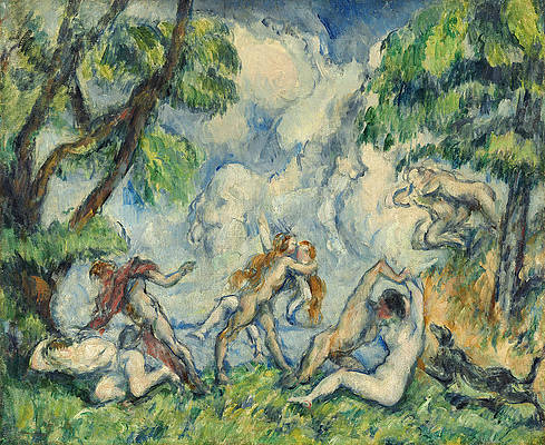 The Battle of Love Print by Paul Cezanne