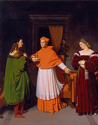 The Betrothal of Raphael and the Niece of Cardinal Bibbiena Print by Jean-Auguste-Dominique Ingres