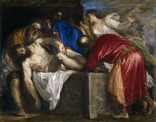 The Burial of Christ Print by Titian