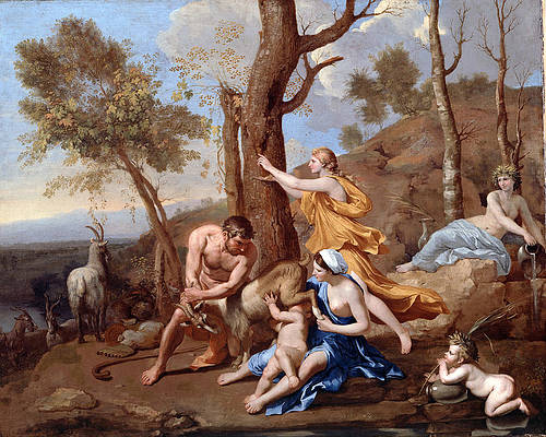 The Nurture of Jupiter Print by Nicolas Poussin