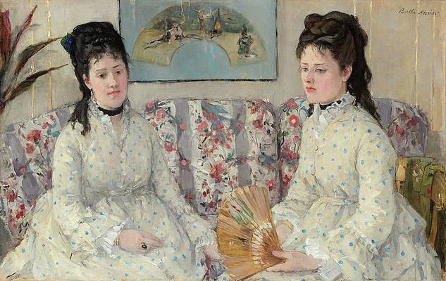 The Sisters Print by Berthe Morisot