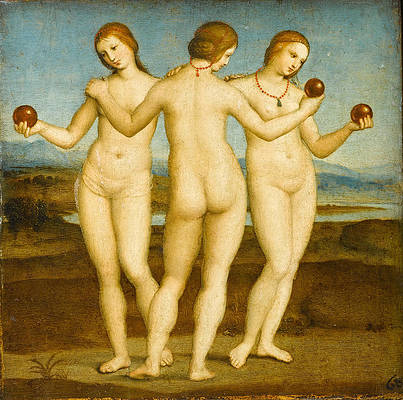 The Three Graces Print by Raphael