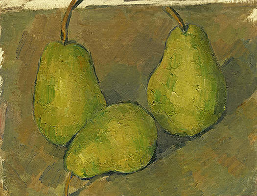 Three Pears Print by Paul Cezanne